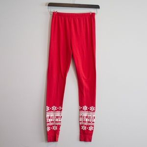Pink Love S/P Red Christmas Holiday Leggings